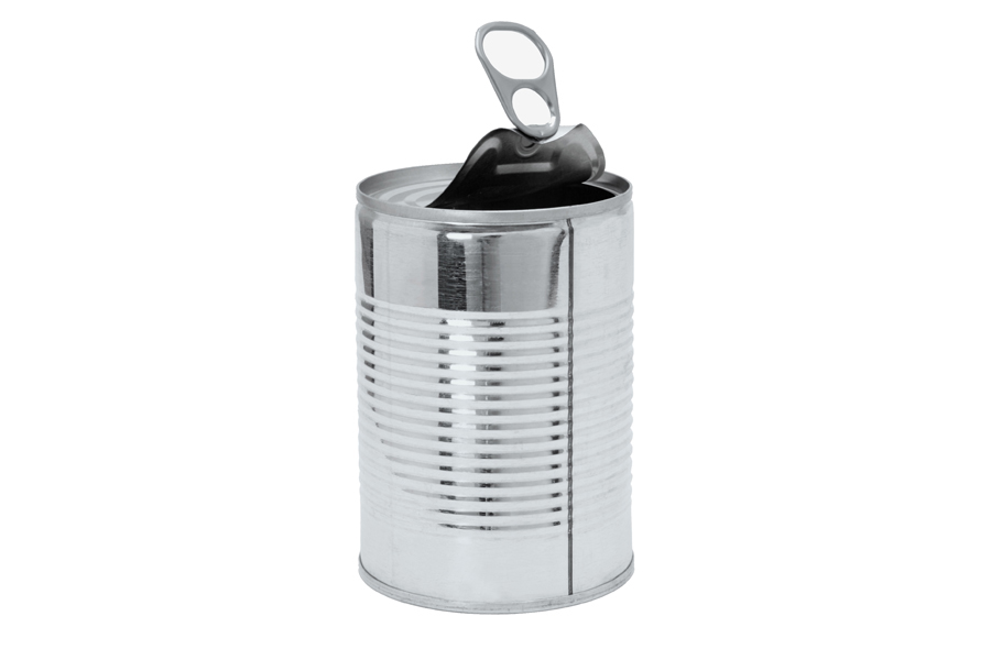 Image: open tin can