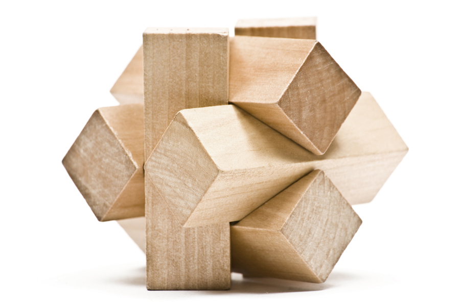 Image: Wooden puzzle ball