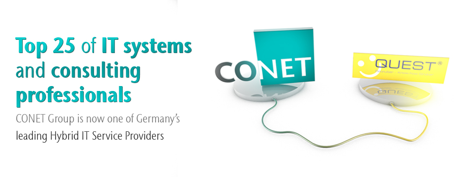 Image: CONET Group and QUEST Softwaredienstleistung GmbH