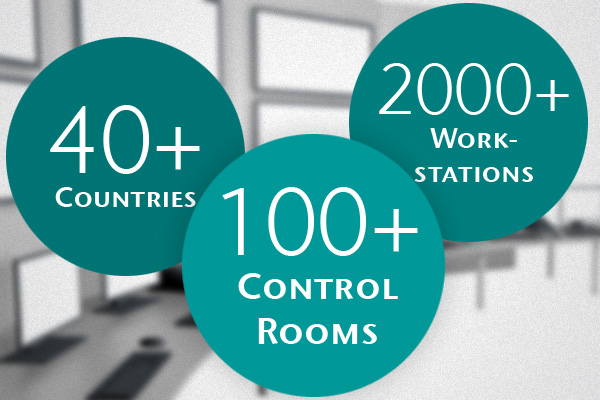 CONET UC Radio Suite - used in more than 100 Control Rooms, in more than 40 countries with a total of more than 2000 workstations