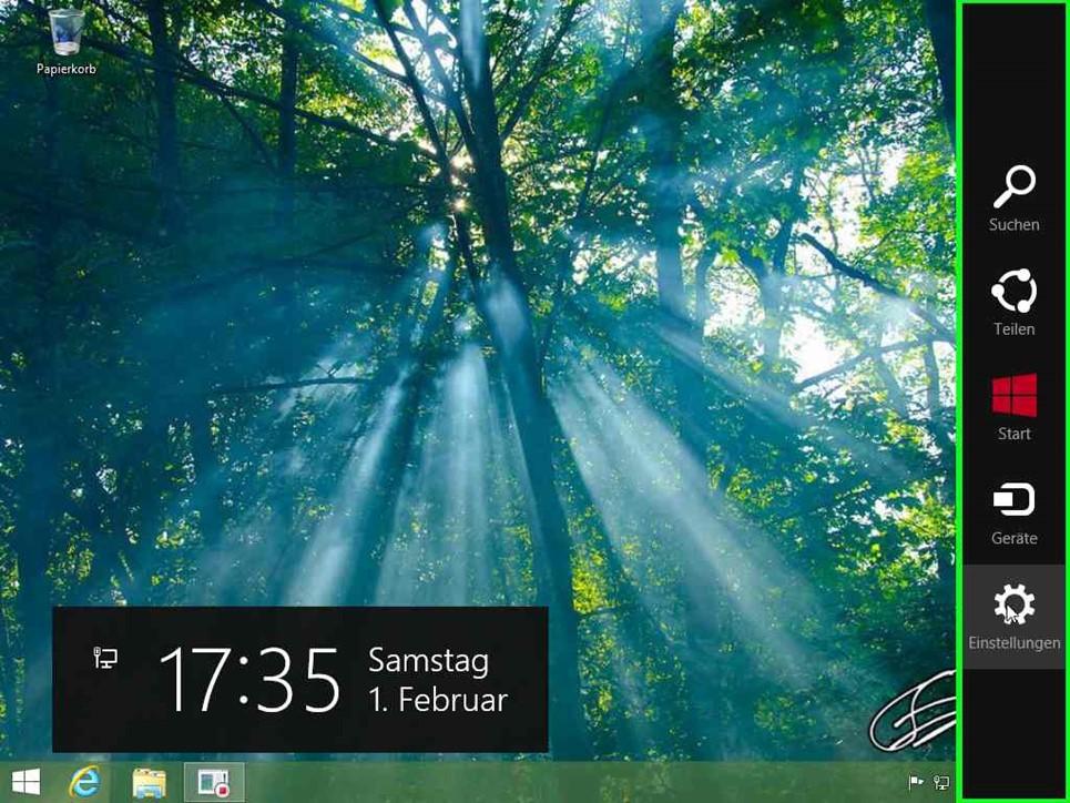 Desktop mit Charmsbar