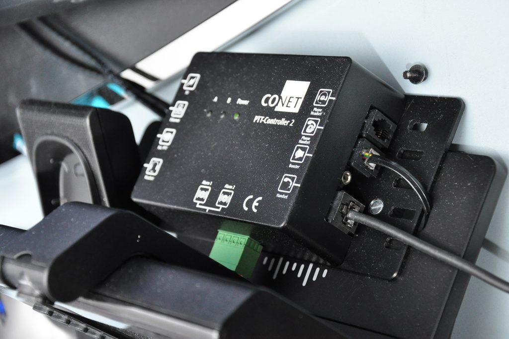 Der CONET PTT Controller ermöglicht angeschlossen an ein IP-Telefon die Integration von Funk-Funktionalitäten (PTT / Push-to-Talk) an das Telefon
