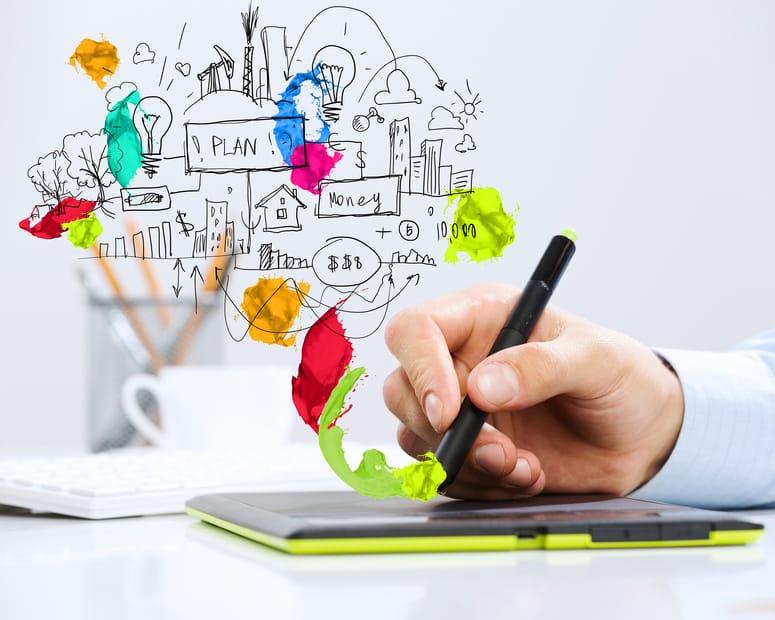 Bild: CONET, Tablet, Hand mit Stift
