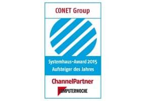 CONET: Aufsteiger des Jahres - Systemhaus-Awards 2015 von ChannelPartner und COMPUTERWOCHE