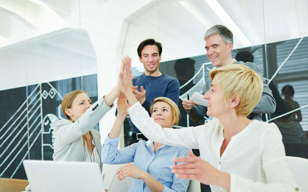 Bild: Teamwork - Gemeinsame Erfolge