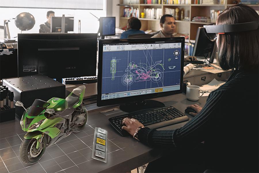 Mixed Reality mit der Microsoft HoloLens - Bildquelle: (c) Microsoft