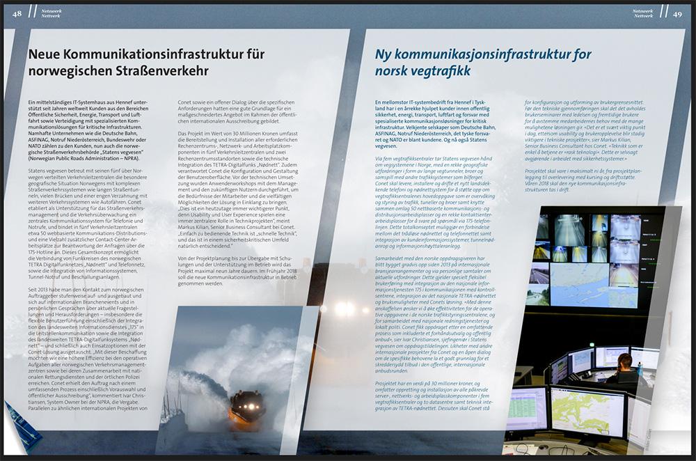 AHK Norwegen Magazin Connect: Neue Kommunikationsinfrastruktur für Norwegischen Straßenverkehr mit der UCRS