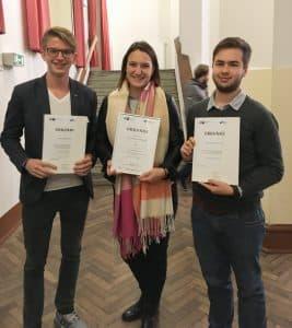 Unsere Auszubildenden erhielten eine Auszeichnungen von der IHK für die herausragenden Leistungen.
