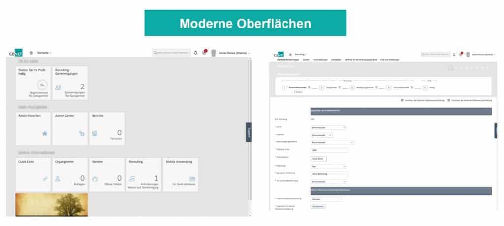 Zukunft des Personalmanagements mit CONET & SAP-SuccessFactors: Moderne Oberflächen