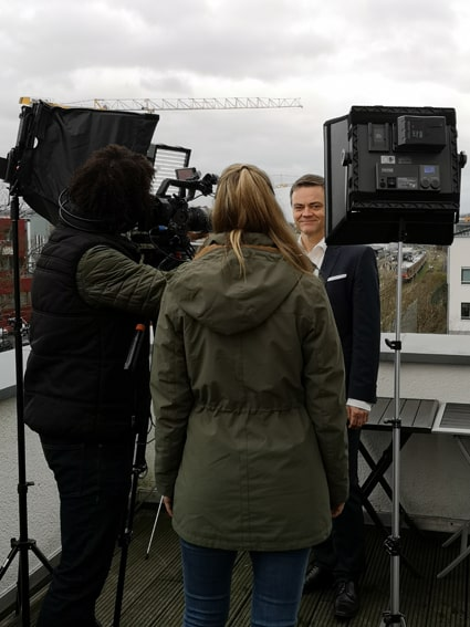CFO Josef Ranner bei den Dreharbeiten