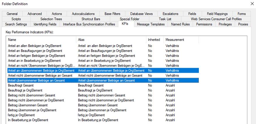 OMNITRACKER - Folder Definition